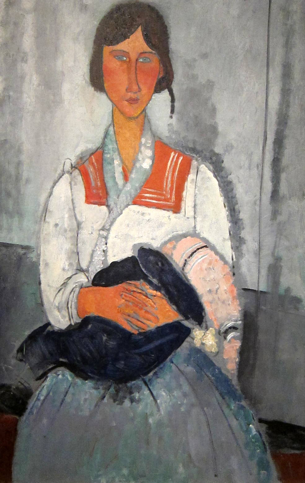 Gypsy Woman with a Baby, 1919 by Amedeo Modigliani