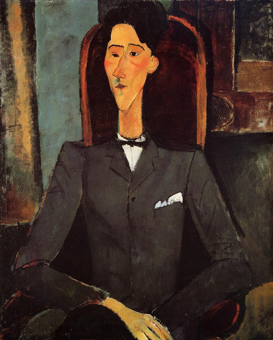 Portrait Of Jean Cocteau 1917 By Amedeo Modigliani