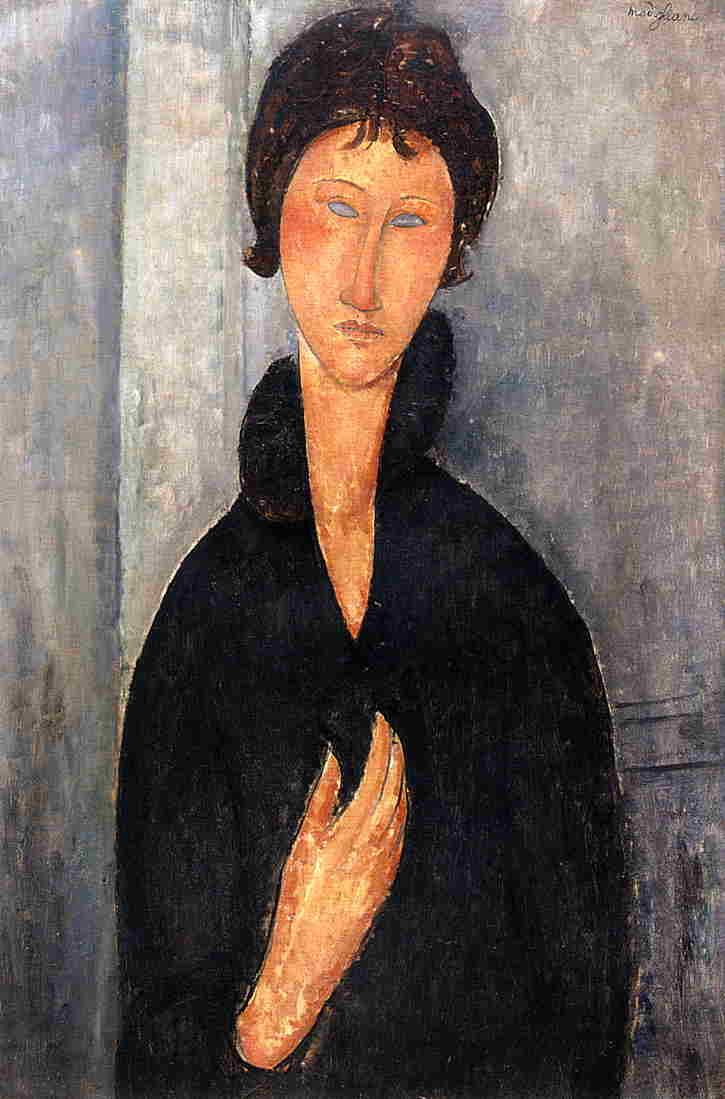 Woman with Blue Eyes 1918 by Amedeo Modigliani